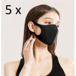 5-pack Tvättbar Skyddsmask/Munskydd Lyx