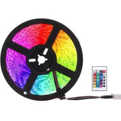 RGB LED-strip med fjärrkontroll, 5m