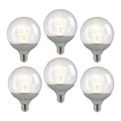 6-pack LED-dekorationslampor, silver, E27-sockel, varmvit, 2W (2