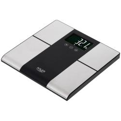 Adler Personvåg med kroppsanalys, maxkapacitet 225kg