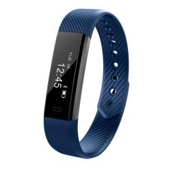 Aktivitetsarmband med OLED-display för iPhone & Android, Blå Blå