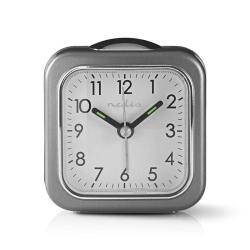 Analog bordsväckarklocka | Belysning | Grå