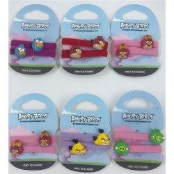 Angry Birds, Håraccessoarer, 6-Pack breda Hårsnoddar