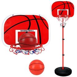 Basketställning med boll och justerbar höjd
