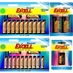 Batteripaket Beyond Excell AA (LR6), AAA (LR03), 9V (6LR61) samt