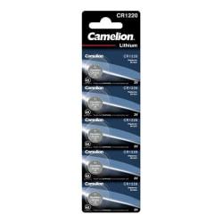 Camelion CR1220/3V, knappcellsbatteri, litium, 5-pack