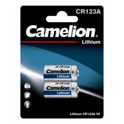 Camelion CR123A/3V, fotobatteri, litium, 2-pack