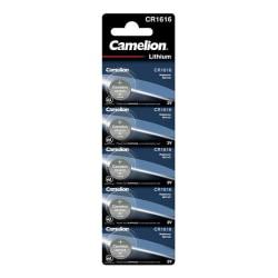 Camelion CR1616/3V, knappcellsbatteri, litium, 5-pack