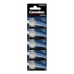 Camelion CR2032/3V, knappcellsbatteri, litium, 5-pack