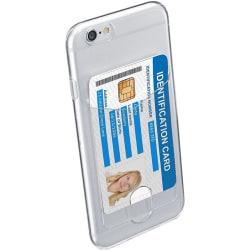 Cellularline Flex Pocket, Transparant skal med kortficka till iP
