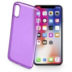 Cellularline Mobilskal i TPU-plast till iPhone X/XS, Lila