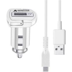 Cellularline USB-billaddare + Laddkabel USB Type-C 100 cm