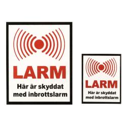 DELTACO avskräckande larmdekaler för fönster (10st små och 6st s