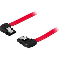 DELTACO SATA/SAS-kabel, vinklad(v)-vinklad(h), låsclips, 0,7m (S