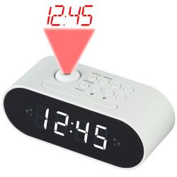 Denver Klockradio med projektion Vit