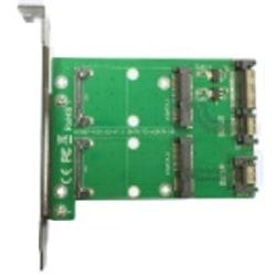Dual mSATA till dual SATA Expansionskort, PCIe-kort, 22pin SATA,
