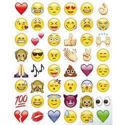 Emoji-klistermärken, 19 ark med 900+ stickers