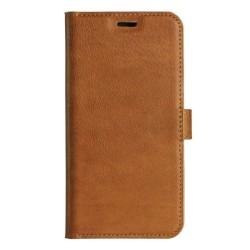 Essentials iPhone X/XS, Äkta läder, plånboksväska 3 kort, ljusbr