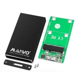 Externt M.2 SSD kabinett, USB 3.0, USB-C, 5Gbps, svart