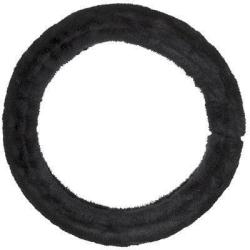 Fluffig rattmuff, svart, universell