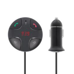 Forever FM-sändare med Bluetooth-handsfree och billaddare (TR-31 Svart