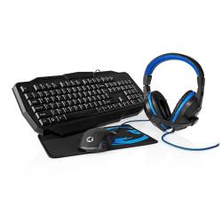 Gaming-paket | 4-i-1 | Tangentbord, headset, mus och musmatta |