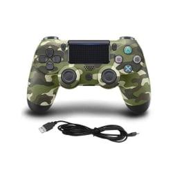 Handkontroll till Playstation 4, Grön, Kamouflage
