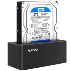HDD/SSD Dockningsstation, USB 3.1 Gen 2, USB-C, 10 Gbps, svart