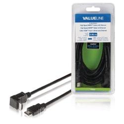 High Speed HDMI Kabel med Ethernet HDMI Kontakt - HDMI Kontakt V