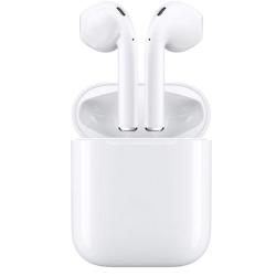 i18 TWS Trådlösa hörlurar, Bluetooth 5.0, med strömbox, Vit Vit