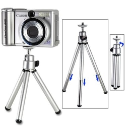 Kamerastativ, mini, silver