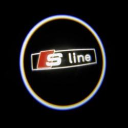 LED Dörrbelysning, Audi S-line logga