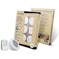 LED Lovers -  LED Puckar, Garderobsbelysning 5-pack med fjärrkon