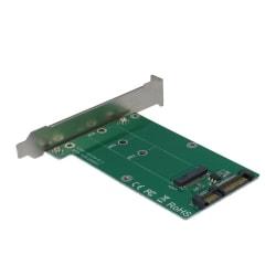 M.2 till SATA-adapter, fullprofil, 22pin, grön