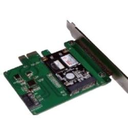 mSATA SSD PCIe expansionskort, 6 Gbps, grön