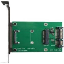"mSATA till SATA-adapterkort, 3,5"" monterbar, 22pin SATA, grön"