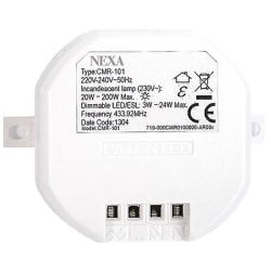 Nexa Trådlös inbyggnadsmottagare för 230 V LED / Dimmer (CMR-101
