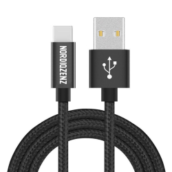 NORDIQZENZ USB-C kabel, Textilklädd, 1.5m, Svart