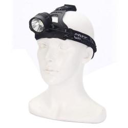 Pannlampa med CREE LED XM-L T6, 1600lm, Svart