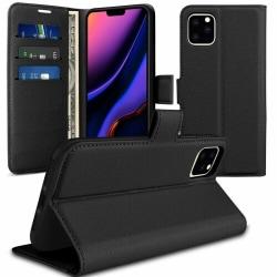 Plånboksväska till iPhone 12 Pro Max, Svart
