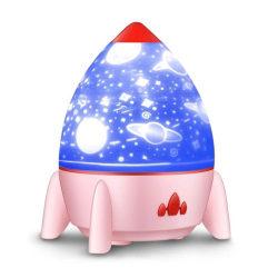 Raket-nattlampa med projektor, Rosa
