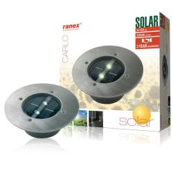 Ranex LED-sollcelslampa på rund markspot (5000.197)