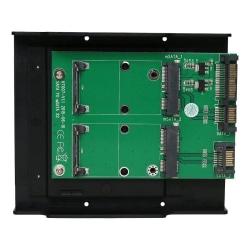 SATA TO mSATA x2convertor Support mSATA  SSD:30*30mm, 30*50mm