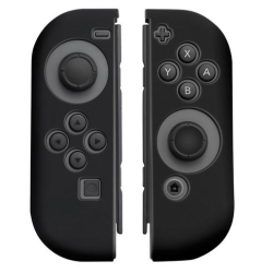 Silikongrepp för Joy-Con handkontroll, Nintendo Switch, Svart