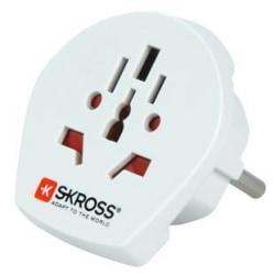 SKROSS Single Adapter Europe, reseadapter från världen till CEE 7