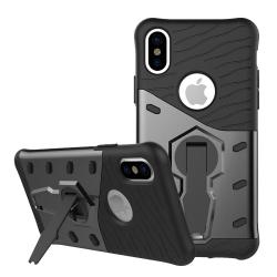 Sniper Case för iPhone X, roterande stativ, utskärningar för vär