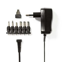 Universalnätadapter | 3/4.5/5/6/7.5/9/12 VDC | 0.6 A