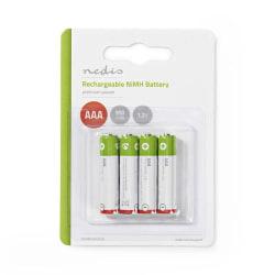Uppladdningsbart Ni-MH-batteri AAA | 1.2 V | 950 mAh | 4 delar |