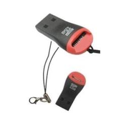 USB 2.0 Kortläsare för microSDHC (Röd/Svart)