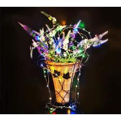 Vacker LED-slinga med 40 ljuspunkter i olika färger